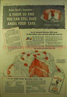 Robin Hood Flour – Maraschino Cherry Cake (1946)