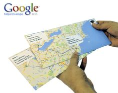 if you want creative envelopes, go to Google Maps, map the route from your letter to the other person's mailbox. Print them up, fold them into envelopes. @ Do It Yourself Pins
