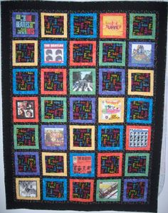 Beatles quilt made for my daughter, Rachel.  This is the first quilt I made!