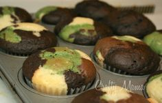 camo cupcakes!  Send to hunting camp for the guys:)