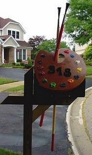 An artist's mailbox