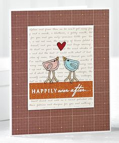 Happy Birds Card by @Jenn L McGuire