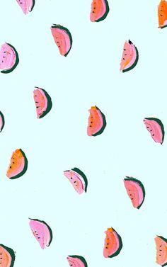 graphic design posters, watermelon print