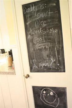 chalk board paint door