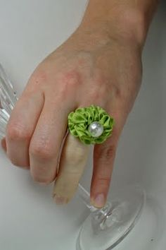 Ribbon Ring Tutorial.  How cute is this.