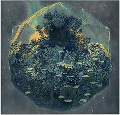 Painting by artist Ben Blatt artists, ben blatt, artworks, blatt blue, blue diamonds, art wordpress, lighthous, community art, artist ben