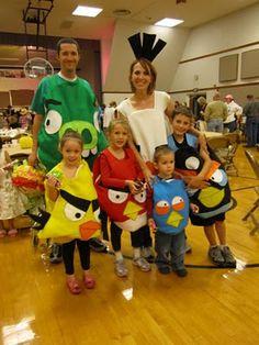 family of angry bird costumes @Nicole Novembrino Novembrino Ashley