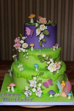 Tinkerbell Cake Ideas Birthday Cakes