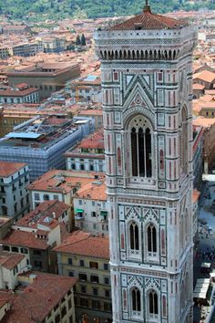 Bell tower, designed by Giotto in Florence, Italy