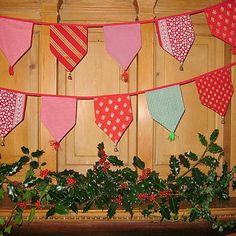 CHRISTmas bunting this would be pretty in pinks and greens