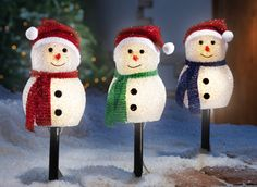 Snowman Outdoor Lighted Pathway Markers