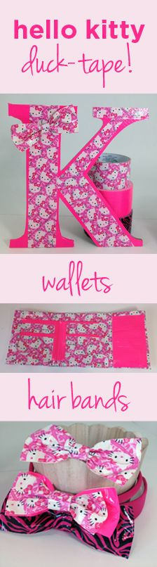 a few things we made with hello kitty duck tape.