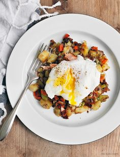 Fabulous Fish: Salmon Hash with Poached Eggs