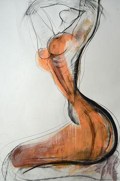 Art - Drawing - Nude