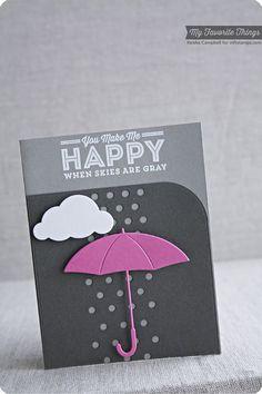 Blue Skies Ahead, Cloud Cover-Up Die-namics, Dispersed Dots Die-namics, Layered Umbrella Die-namics - Keisha Campbell #mftstamps