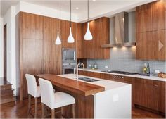 contemporary wood cabinets