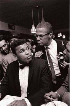 Muhammad Ali and Malcolm X.