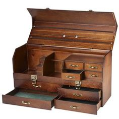 Vintage-Look Eight-Drawer Tool Box. This would make a gorgeous jewelry box