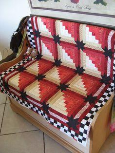 Log Cabin quilt. Love it!