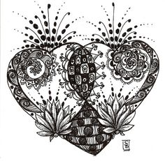 Doodle heart by Stephanie Bergeron