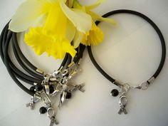 Melanoma Cancer Awareness Rubber Bracelets