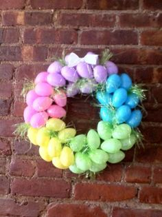 easter wreath | The Stafford Diaries: How-to: Make an Easter Egg Wreath