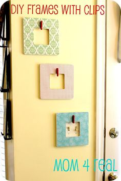 DIY Frames w/ Clips Using Mod Podge