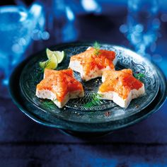 Smoked Salmon Stars