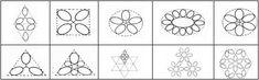 Basic tatting shapes