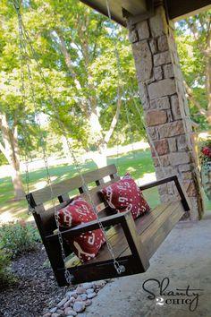 DIY Wood Porch Swing