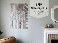 East Coast Creative: Faux Industrial Metal Letters {Tutorial}