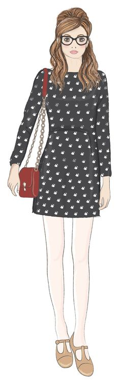 Stumbled across this beautiful illustration by @Emily_Kiddy from our Orla Kiely AW12 campaign