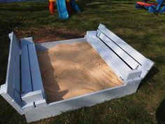 Sandbox with benches   Do It Yourself Home Projects from Ana White