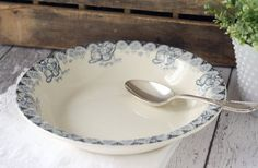 antique French serving bowl. #antique #french #ceramics