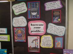 Display of  books relating them to the IB/PYP learner profile by katie appleton day, via Flickr