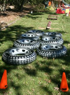 Monster truck obstacle course...kids loved i