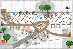 Garden Plan - 2014: Lower garden