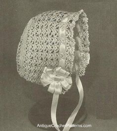 Vintage Cute Baby Bonnet free crochet pattern