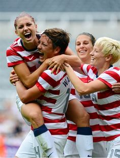 Love these Ladies!  US Women's Soccer Team Gold Medal Champions 2012