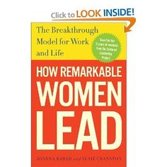 """Based on five years of proprietary research, How Remarkable Women Lead speaks to you as no other book has, with its hopeful outlook and unique ideas about success. It's the new """"right stuff"""" of leadership, raising provocative issues such as whether feminine leadership traits (for women and men) are better suited for our fast-changing, hyper-competitive, and increasingly complex world."""