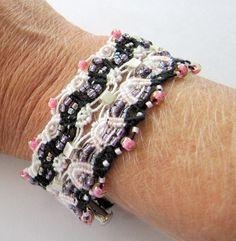 DIY Light And Lacy Macrame Bracelet