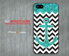 Glitter Anchor iPhone 5 case Anchor iPhone5 case chevron iPhone 5 Cases Glitter iPhone 5 Hard/Rubber case-Choose Your Favourite Color on Etsy, $6.99