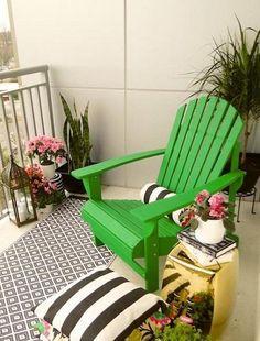 Small balcony color pop idea #pier1outdoors #ad