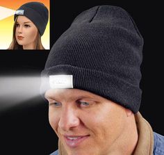 LED Knit Cap - The Flashlight Equipped Headgear http://coolpile.com/gadgets-magazine/led-knit-cap-flashlight-equipped-headgear/   @CoolPile.com.com.com - $10.99 -  Amazon.com, Camping, Clothing, Flashlights, Headlamps, Hiking, LED, Outdoors, Winter