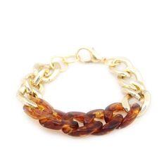 tortoise shell & chain bracelet