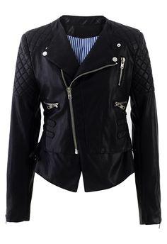 Faux Leather Bike Jacket