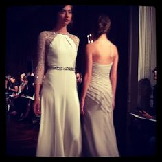 Love these illusion sleeves #JennyPackham #BridalMarket #wedding #weddingdress