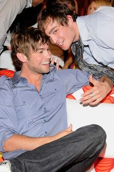 Gossip Girl heaven! We'd love to hang out with Chace Crawford and Ed Westwick.