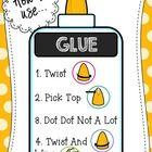 """Classroom decor that's also informative!  This is an 8.5 x 11"""" poster that explains and reinforces how to use glue...."""