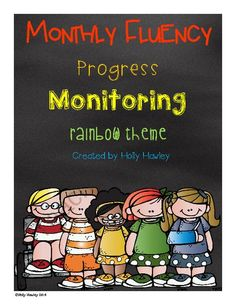 Progress Monitoring Monthly Fluency Sheet Rainbow Theme from Holly Hawley on TeachersNotebook.com -  (27 pages)  - Track your progress monitoring each month and keep parents informed of their progress!